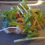 鉄板ダイニング 京四季庵 - 地鶏の四川風サラダ仕立て