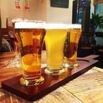 炙り焼 麦酒酒場 三代目 山田屋 - 2回め、飲み比べ