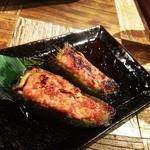 炙り焼 麦酒酒場 三代目 山田屋 - ピーマンの肉詰め