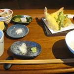 いやいやえん - 天ぷらそば定食(マイナス蕎麦)