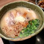 らぁめん銀波露 - 北海道とんこつ味噌。見た目こってり~。粉チーズ乗ってる~。
