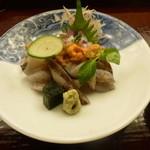 懐石料理 桝田 - お造り(とり貝、雲丹。蛸)