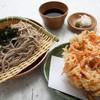 かもめの台所 - 料理写真:大判桜海老かき揚げざる蕎麦