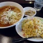 Chainadoru - 「ラ麺+半炒飯」800円也。税込。