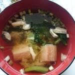 菜々キッチン ほっこり - 麩、豆腐、アゲの味噌汁