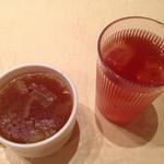 Ventuno Tokyo - ランチのスープとソフトドリンク