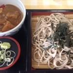 38878612 - ざる蕎麦、ローズポークのミニカレー丼セット(11.6)