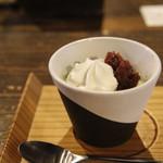 茶房 素心 - 抹茶ブランマンジェ(530円)