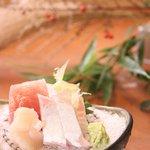もえり - 料理写真:もえりのお醤油はヤマサ醤油、たまり醤油、酒に日高昆布とたっぷりのカツオ節を使った自家製土佐醤油です