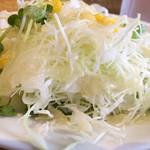 トラットリア ヴィノサルーテ - ミニサラダ 100円 ドレッシングが美味しいですよ