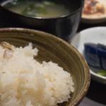 魚匠 梶 - 鯛めし(味噌汁・漬物セット)