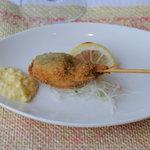 シャトー文雅 - 白身魚の串揚げタルタルソース