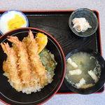 三春 - えび・野菜天丼