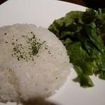 梵 - ライスとサラダ
