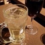 梵 - ハイボールと赤ワイン