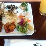 Chikushinotempainosatoshizenshokubuffehimehotaru - 自然食ビュッフェ姫蛍 色々取りました♪ fromグリーンロール