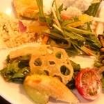 Chikushinotempainosatoshizenshokubuffehimehotaru - 自然食ビュッフェ姫蛍 サラダだけでも色んな種類あります。fromグリーンロール
