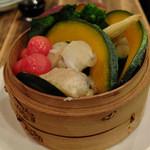 居酒屋 三太 - 蒸したて10種類の温野菜
