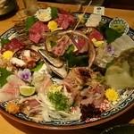 38896335 - 馬肉鮮魚盛り