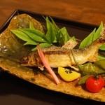 葉歩花庭 - 天然鮎塩焼