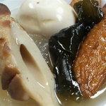 手打そば 三芳野 - このおでんは、蕎麦屋の旨味(昆布)タップリだった。