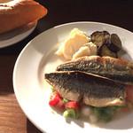 エル バレンシアーノ - 201506 Aランチ(トビウオの鉄板焼き夏野菜ビネガーソース)