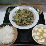 38907427 - ニラレバ炒め定食