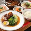 《人気No.1》豚角煮と青菜の定食セット