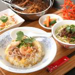 海老と細切豚肉の炒飯セット