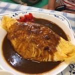 喫茶レストラン丘 - カレーオムライス 相方のおすすめです(^^) まぢ美味しいー