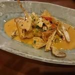 ワインと料理 Soleil  - ヒラメと渡り蟹のアメリケーヌクリームソース
