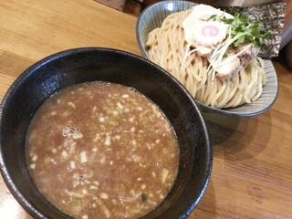 馳走麺 狸穴 - 濃厚つけ麺(大盛)2015.6.8