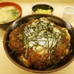寿々屋 - 特製かつ丼定食(上)(1785円)(2013/1)