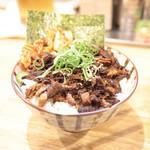 福島壱麺 - 肉飯 (350円) '15 5月中旬