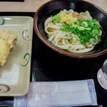 さぬき麺業 - ぶっかけ温・並とたまごちくわ天