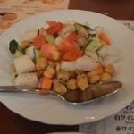 ターバン - 豆サラダ