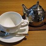 蜜家珈琲店 - ミニシーザーサラダ+ドリンクのセット≪ランチセットで+\200≫(紅茶はポットサービス、2015年4月)