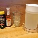 自家製ミートソース potto - 粉チーズとハバネロソース