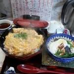 38931087 - 親子丼と半田素麺セット♪