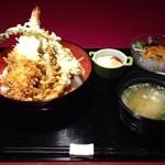 ピンキリ - Cランチ 大海老と色々野菜天丼