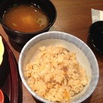 料理 旬仙 - 炊き込みご飯&お味噌汁