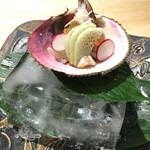 京都 瓢斗 - とり貝の焼霜。