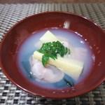 一二三庵 - 蛤と筍の煮浸し