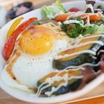 cafe little ma'am - 野菜たっぷりロコモコ丼