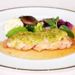 レストラン ラグラース - 2015.夏 若鶏のソテー グリーンマスタードソース