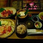 兎野六歩 - 地鶏炭火焼定食(地鶏は2人前の量です)