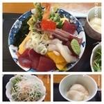 八千代 - 海鮮ド〜ン*\(^o^)/* 700円はCPは高い! 酢飯がふっくら温かく優しい味で美味しかった(^^)