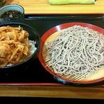 立食いそば 山吹 - かき揚げ丼セット(600円)