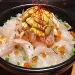 田村 岩太郎商店 - ひらめ海鮮丼