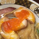すごい煮干ラーメン凪 - 絶妙の状態の味付けたまご